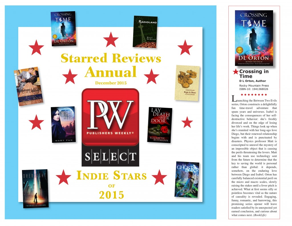 Crossing In Time Makes Publishers Weekly Indie Stars of 2015